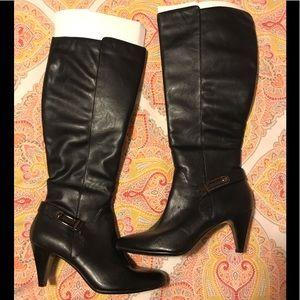 Black alfani step n flex boots
